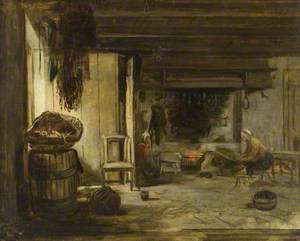 The Interior of a Fisherman's Cottage
