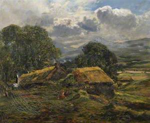 Highland Landscape with Crofts