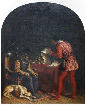 Louis XI Attended by His Favourite Minister, Olivier-le-Dain