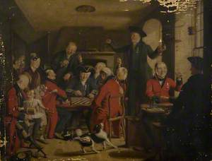 The Friendly Contest: Greenwich and Chelsea Pensioners Playing Draughts
