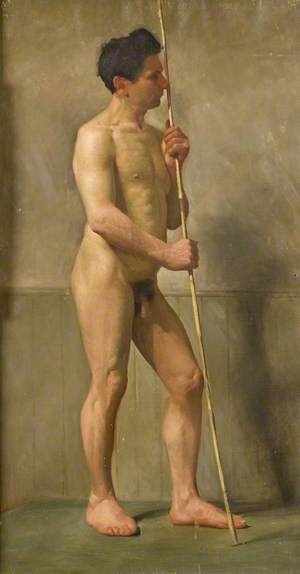 Standing Nude with Cane