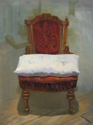Red Chair with a Pillow