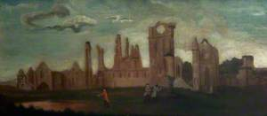Arbroath Abbey and Figures from the South