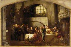 George Wishart Administering the Sacrament in the Prison of the Castle of St Andrews on the Day of his Execution, 1 March 1546