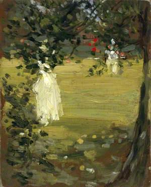White Dress in the Garden