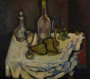 Still Life with a Bottle and Pears