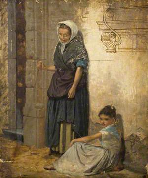 Peasant Woman and a Girl
