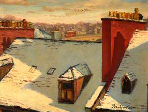 Perth Rooftops in Snow