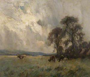 Landscape with Cattle Grazing