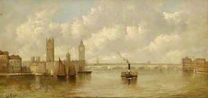 View of the New Houses of Parliament from the River, 1860–1870