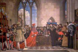 Sir Thomas More Refusing to Grant Wolsey a Subsidy, 1523