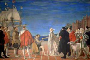 Elizabeth I Commissions Raleigh to Sail for America, 1584