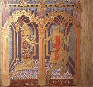 Reconstruction of Medieval Mural Painting, Donors King Edward and Saint George