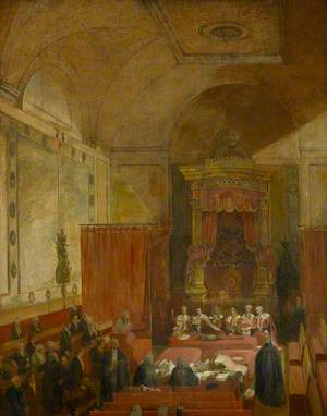 Passing the Reform Bill, 1832, Interior of Court of Requests