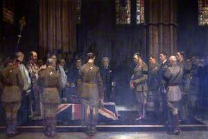 The Burial of the Unknown Warrior, Westminster Abbey, 1920