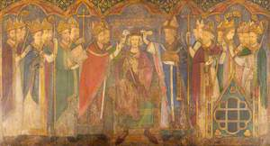 Reconstruction of Medieval Mural Painting, Coronation of Edward the Confessor