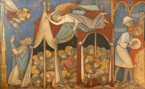 Reconstruction of Medieval Mural Painting, Continuation of the Story of Hezekiah