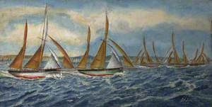 1923 Regatta – The Winning Mark to Windward