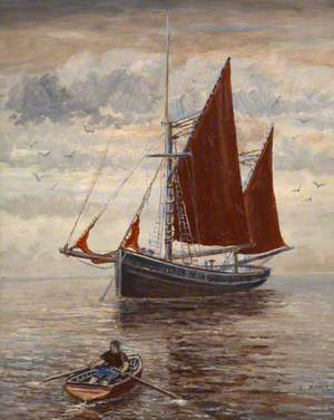 Trawler and Rowing Boat