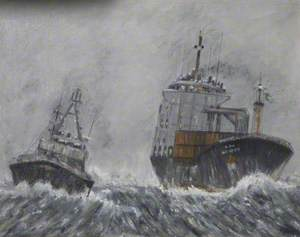 Two Ships in a Storm