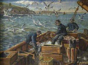Three Fishermen at Work