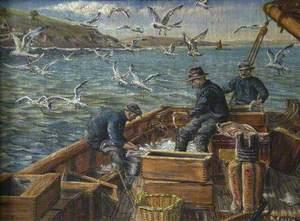 Three Fishermen at Work