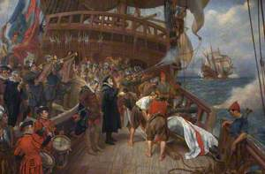 Burial of Admiral Drake