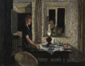 Cottage Interior, Evening