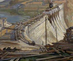 Construction of Burrator Reservoir