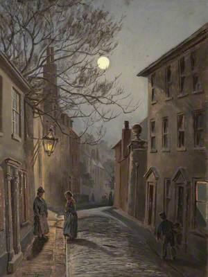 Street Scene by Moonlight
