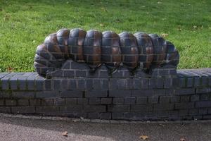 Caterpillar, Woodlouse and Wall Carvings
