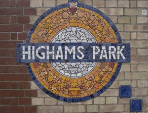 Highams Park TFL Roundel