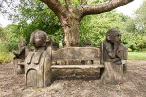African Mask Bench