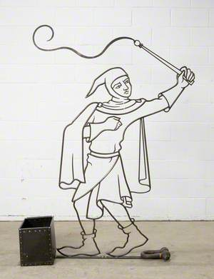 Medieval Man with a Whip