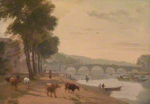 A View of Richmond Bridge, on the Thames