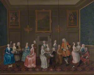 Tea Party at Lord Harrington's House, St James's
