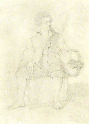 Seated Man with Basket