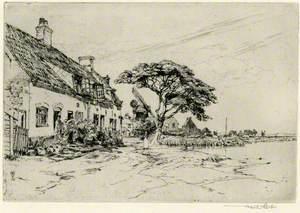 Coastal Village and Windmill