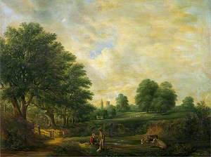 Landscape in Christchurch Park, Suffolk