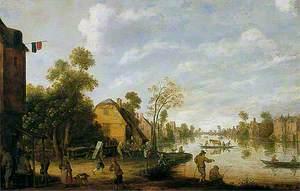 A Dutch Canal Scene