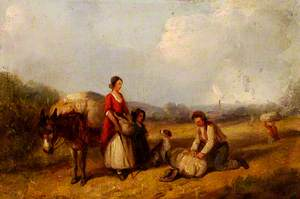 Travelling Family and Donkey