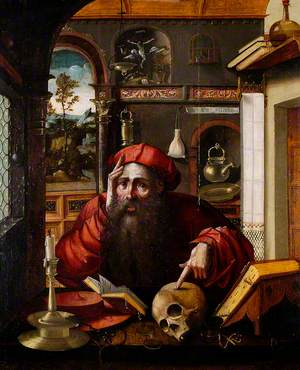 Saint Jerome with a Skull