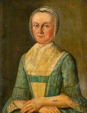 Portrait of a Lady in a Blue Dress