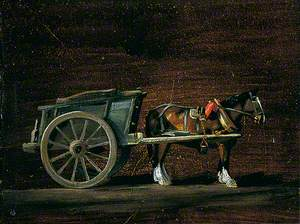 Farm Cart, Horse in Harness
