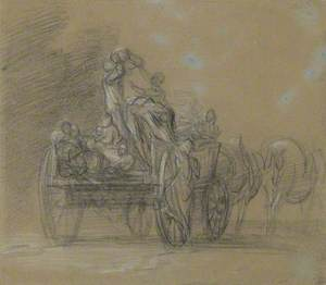 Study for 'The Harvest Wagon'