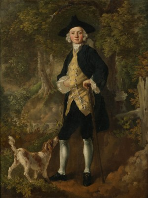 A Gentleman with a Dog in a Wood