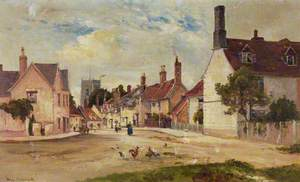 A View up Castle Street, Framlingham, Suffolk