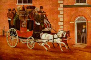 Bury Coach Arriving at the 'Great White Horse' Inn, Ipswich