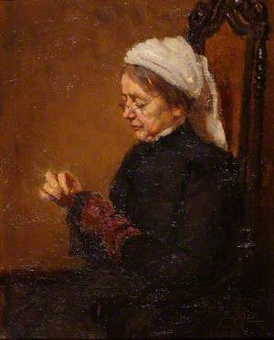 Mrs Mead, Darning Socks