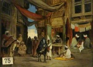 An Eastern Bazaar Scene